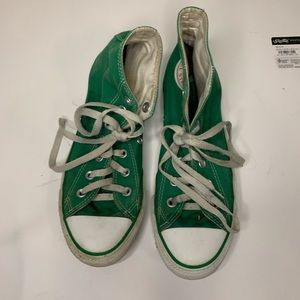 Green Hi Top Converse 6M 8W